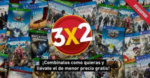 Nueva campaña de 3x2 en juegos de Ubisoft