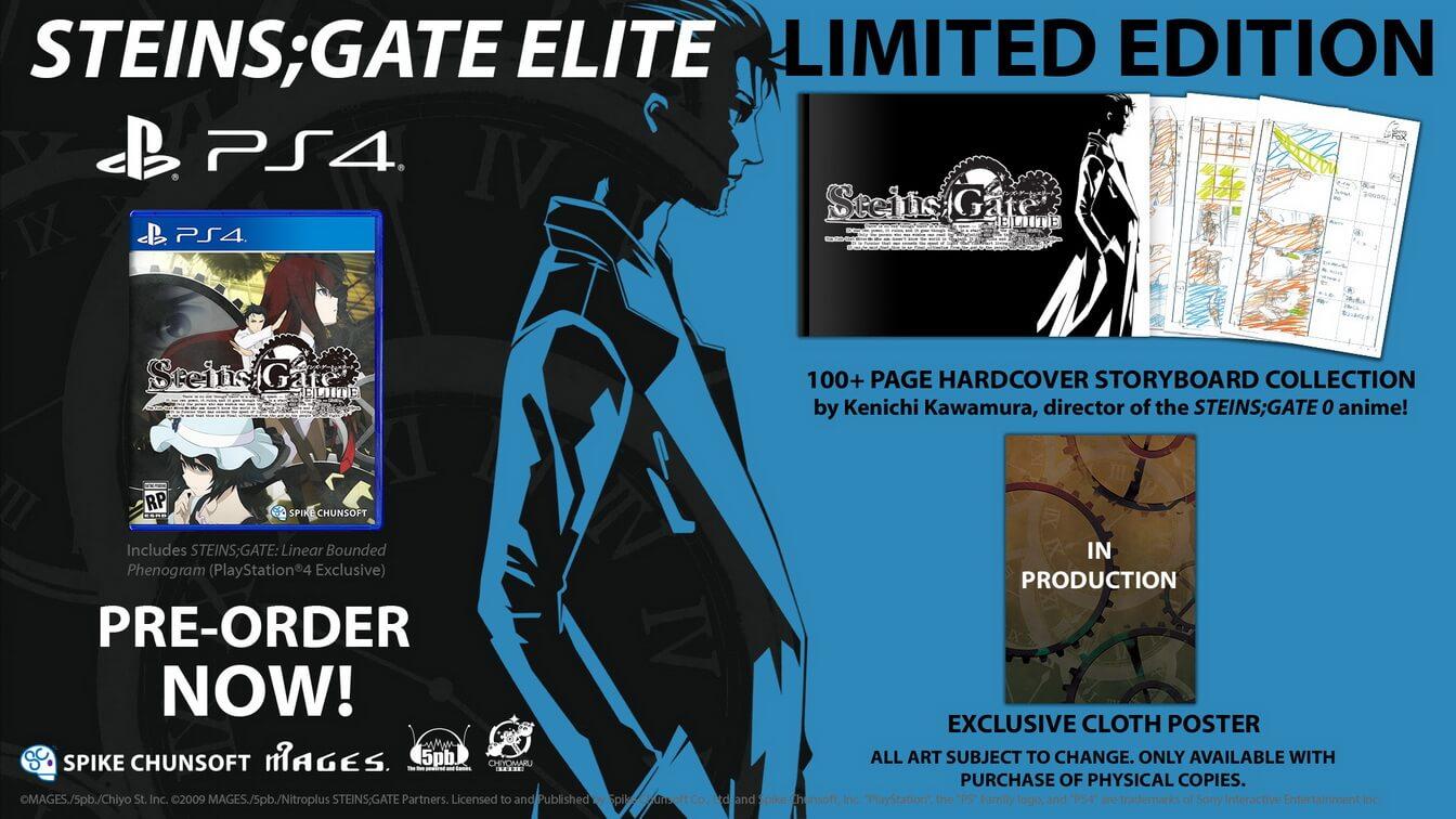 La edición limitada de Steins Gate Elite ha sido anunciada