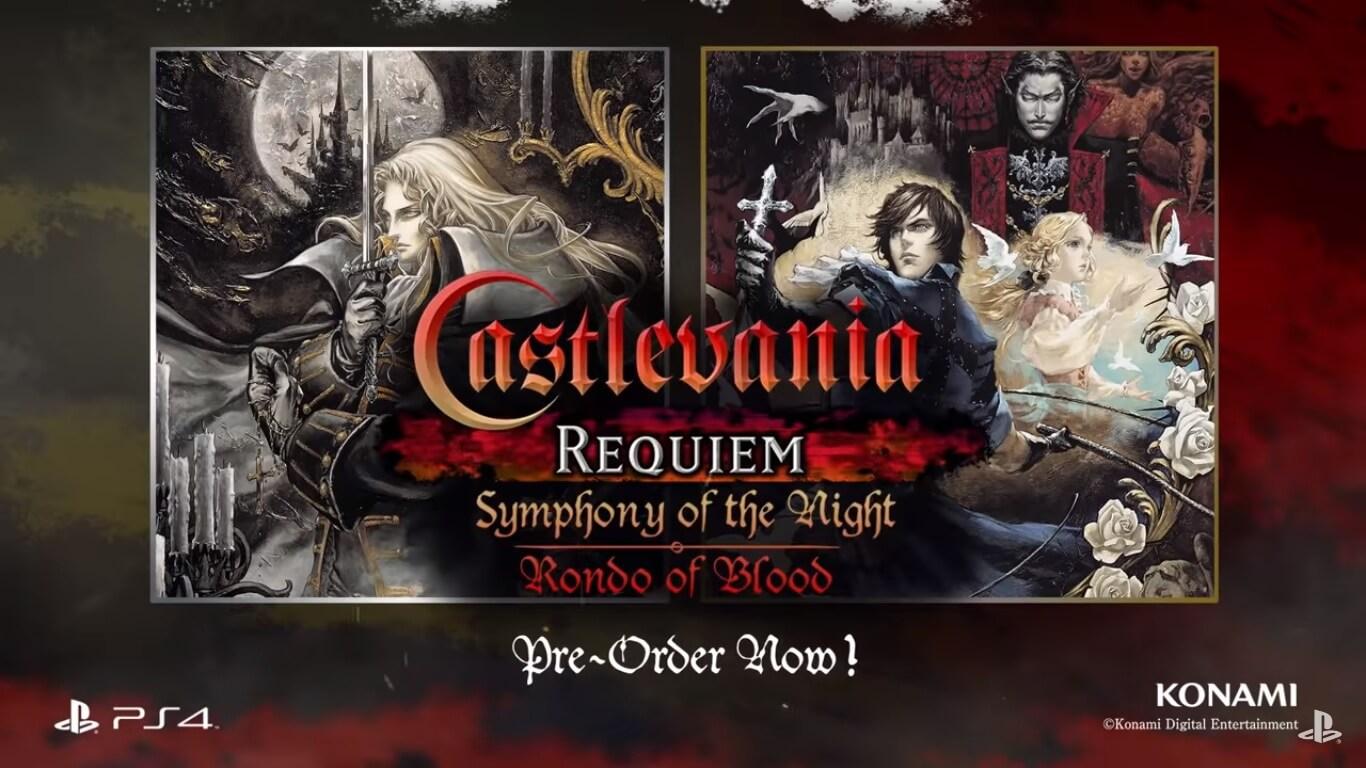 Anunciado Castlevania Requiem: Symphony of the Night & Rondo of Blood para PS4