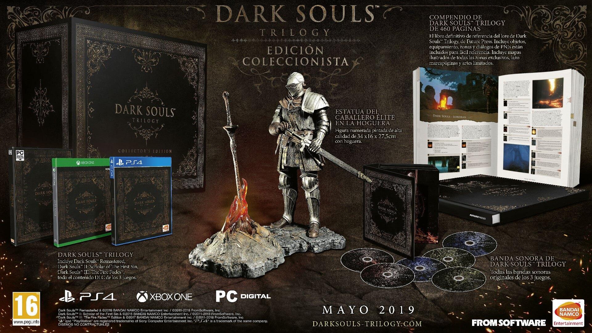 dark souls trilogy coleccionista