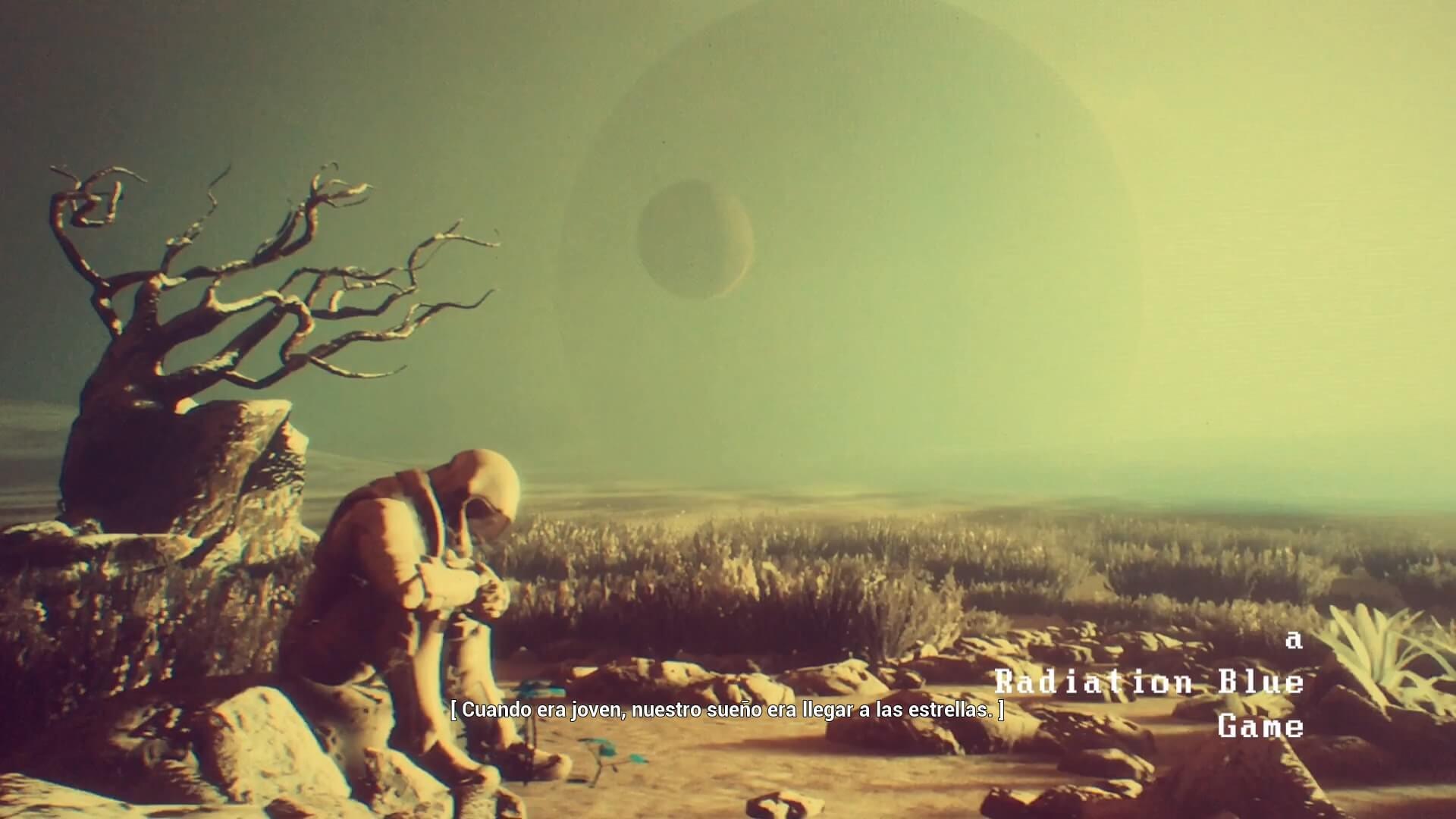 Explorador en un planeta inhabitado