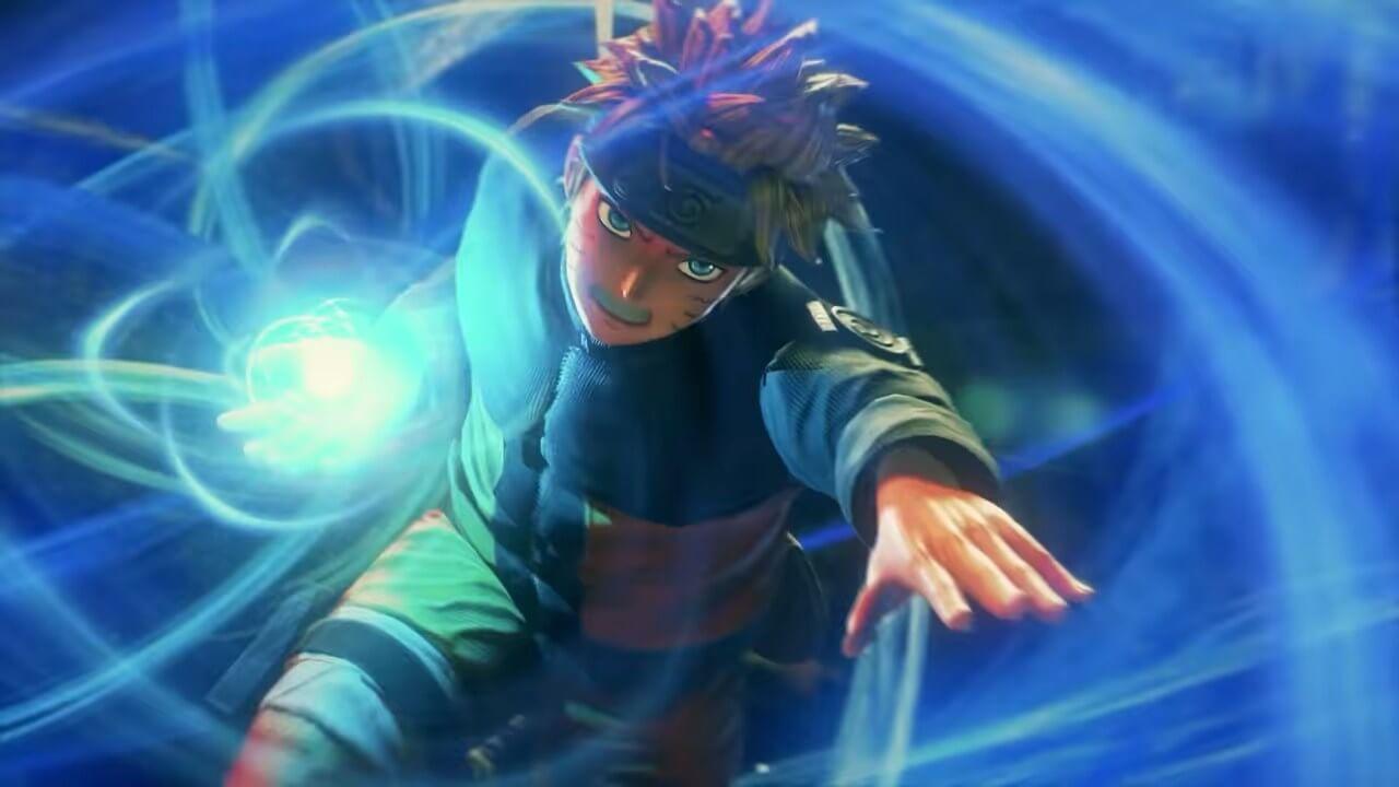 Naruto realiza rasengan en Jump Force