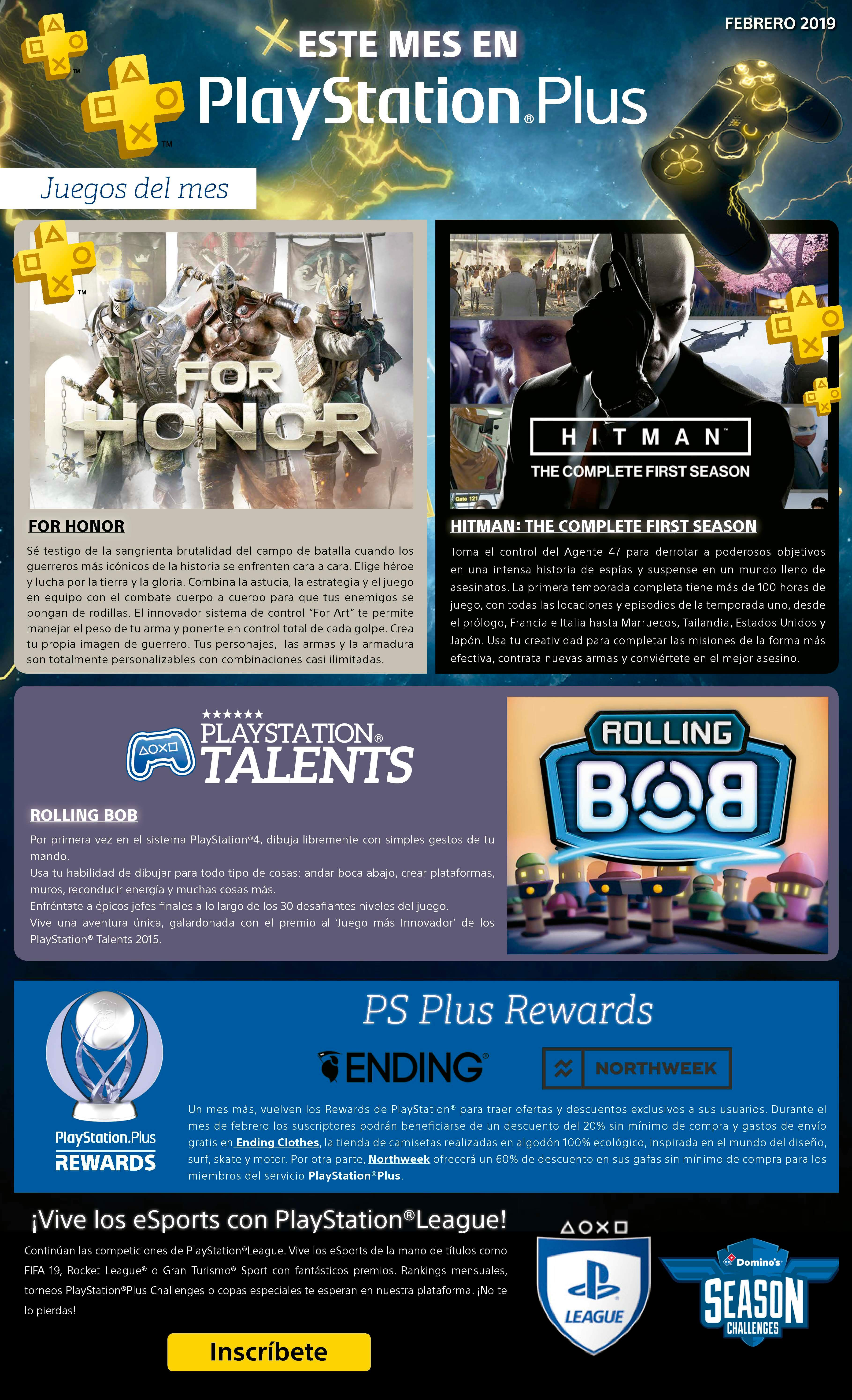 Juegos PS Plus Febrero