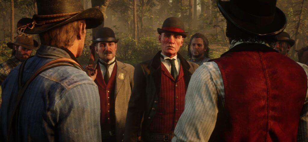 Los Pinkerton en Red Dead Redemption 2
