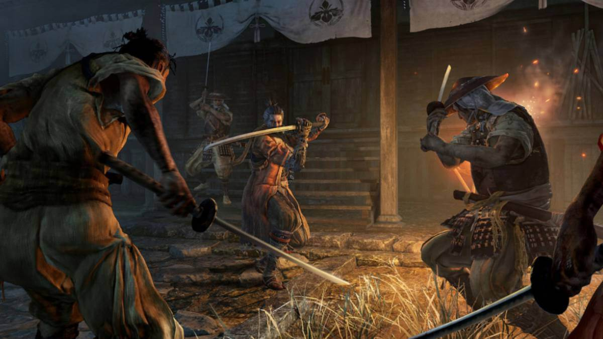Combate en Sekiro: Shadows Die Twice