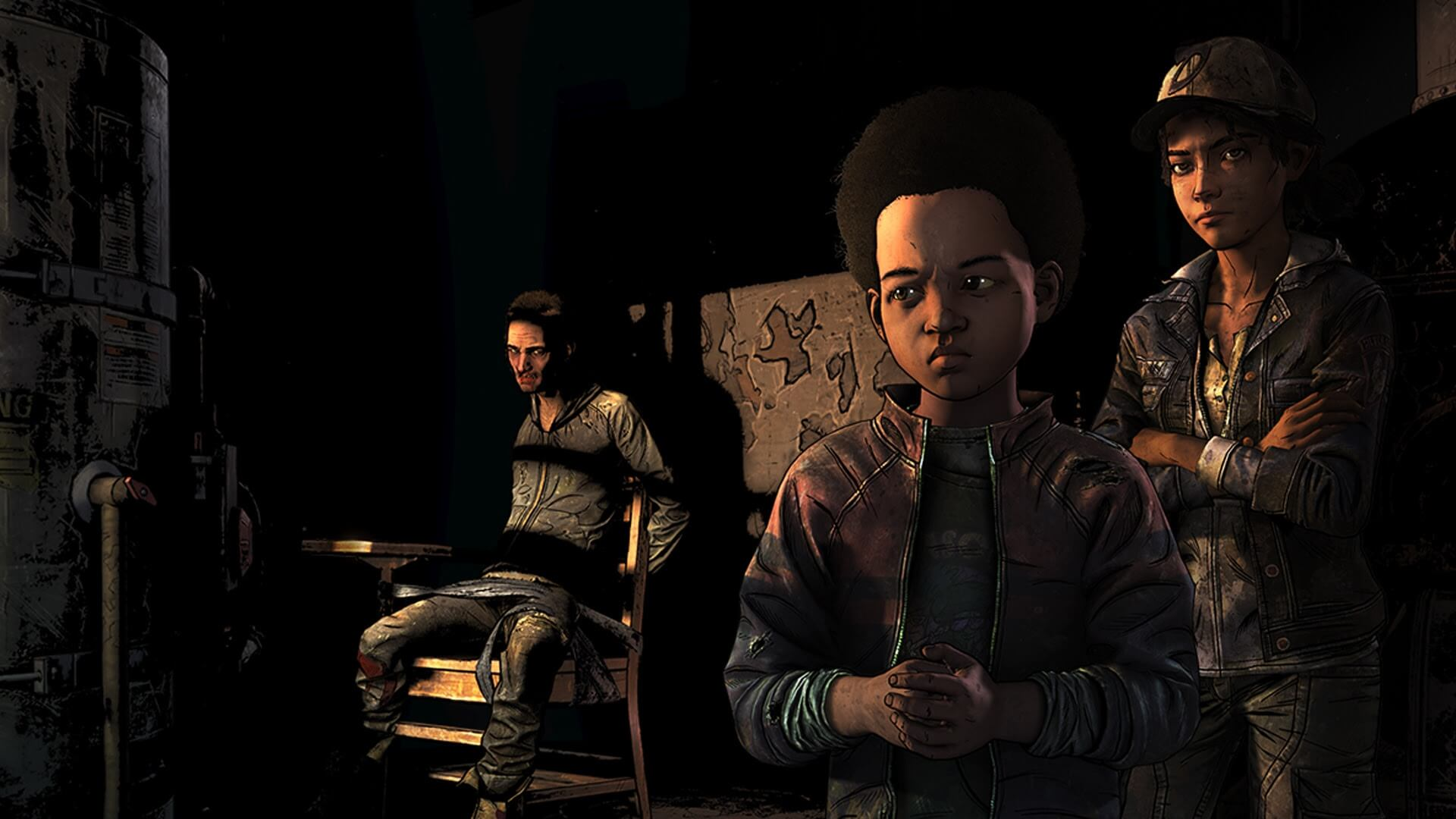 AJ y Clementine en The Walking Dead: The Final Season