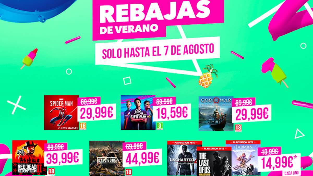 Juegos en oferta PlayStation Network PS4 verano