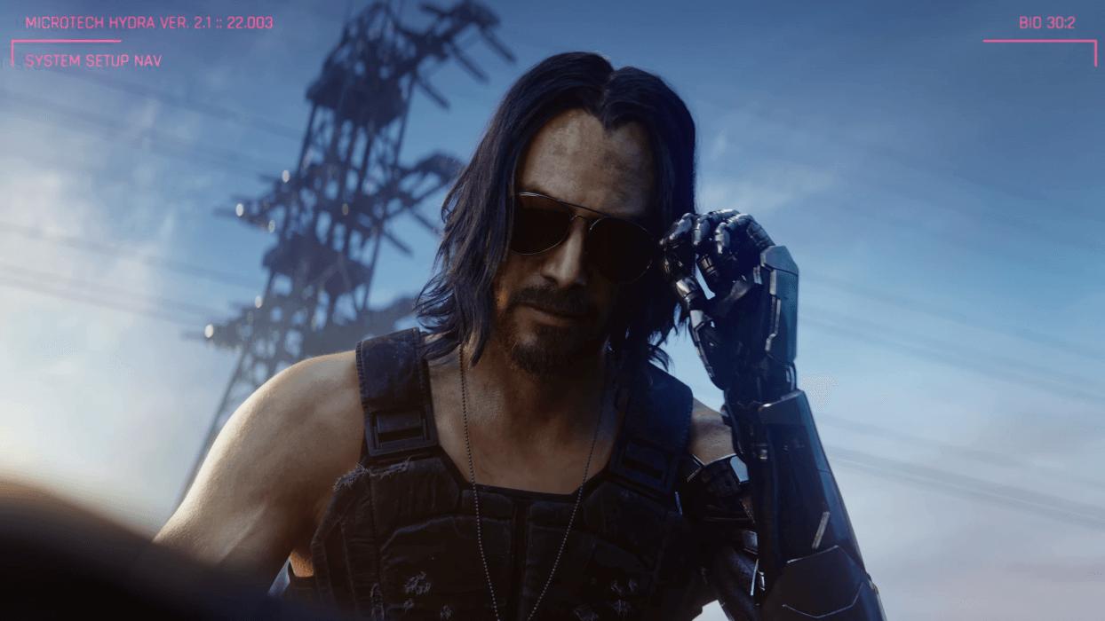 Keanu Reeves ya jugó Cyberpunk 2077 pero aún no lo ha completado