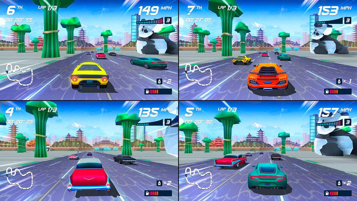 Horizon Chase Turbo ps4 modos de juego