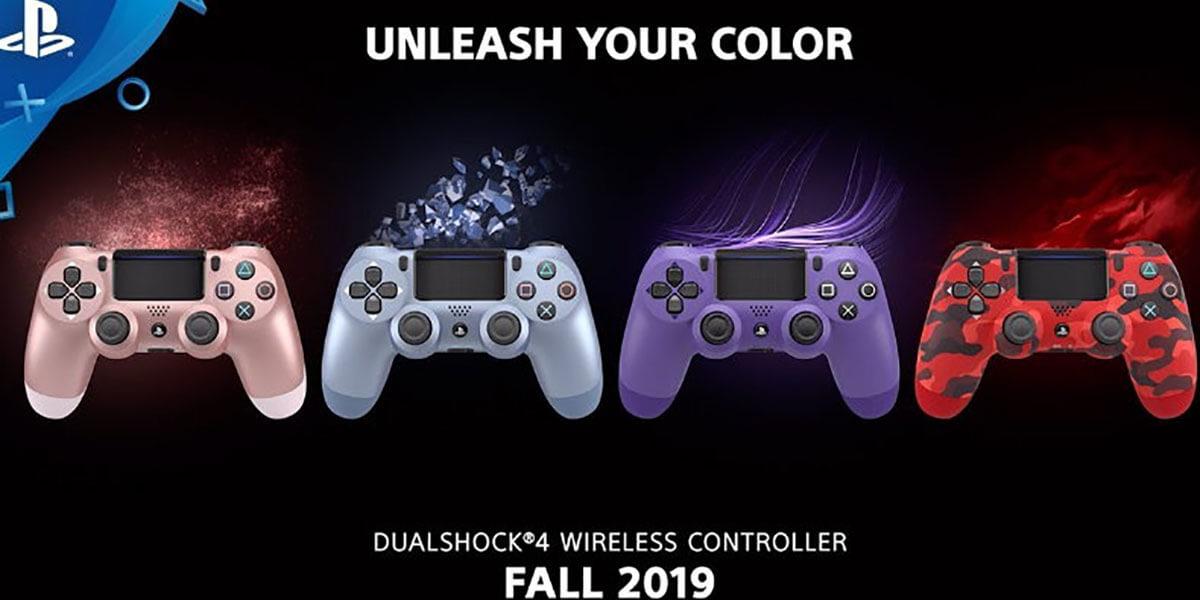 Nuevos colores de mandos DualShock 4 PS4
