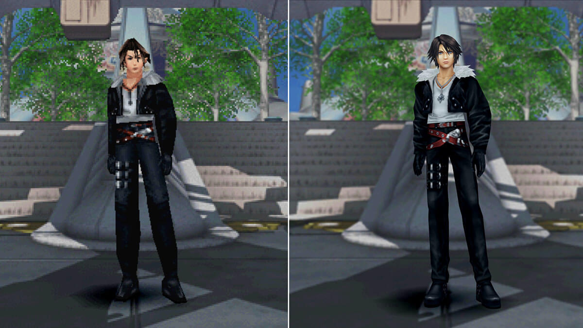 Comparacion Final Fantasy VIII vs remasterizacion