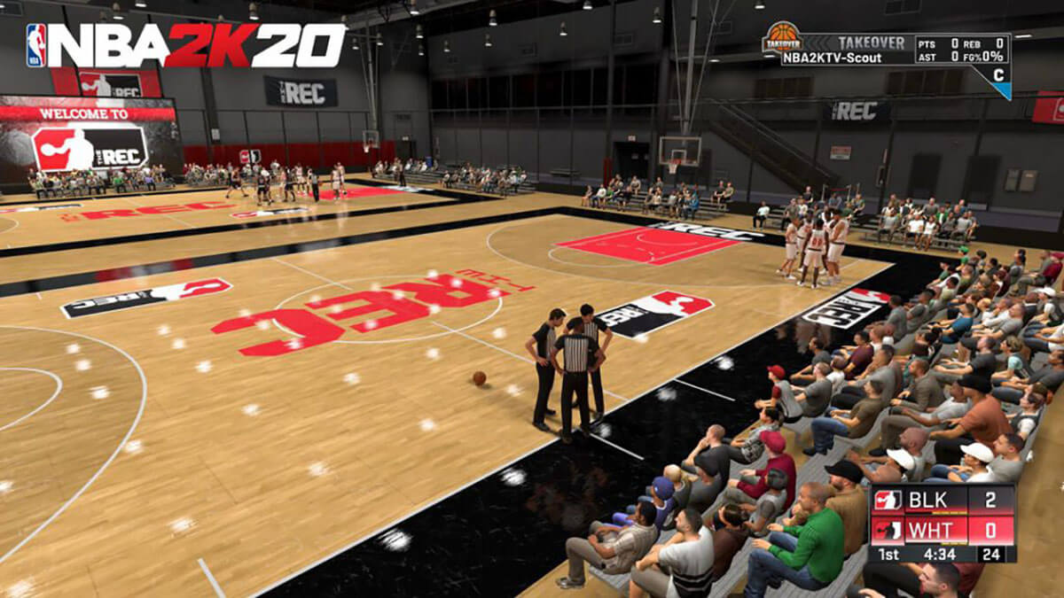 NBA 2K20 Rec center