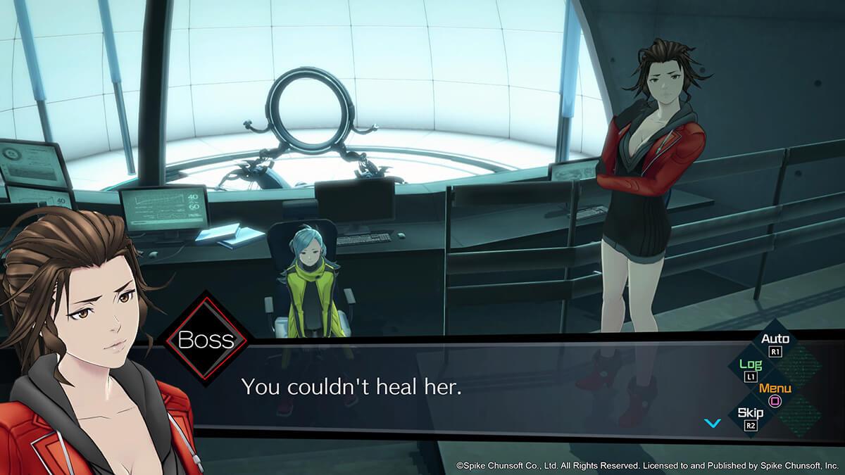 AI Somnium Files dialogos