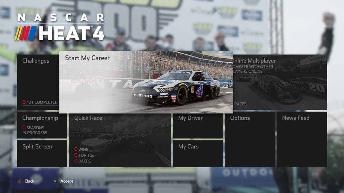 NASCAR Heat 4 modo carrera