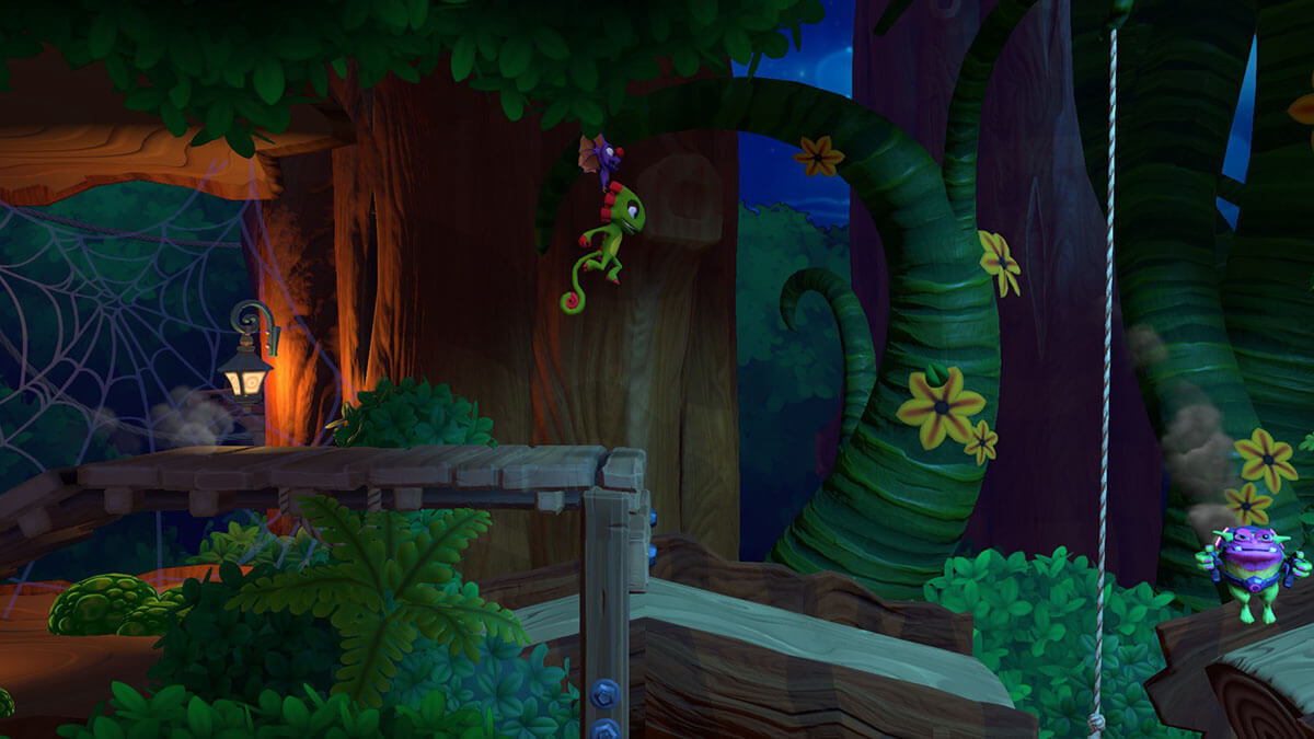Yooka-laylee and the impossible lair juego de plataformas en 2D