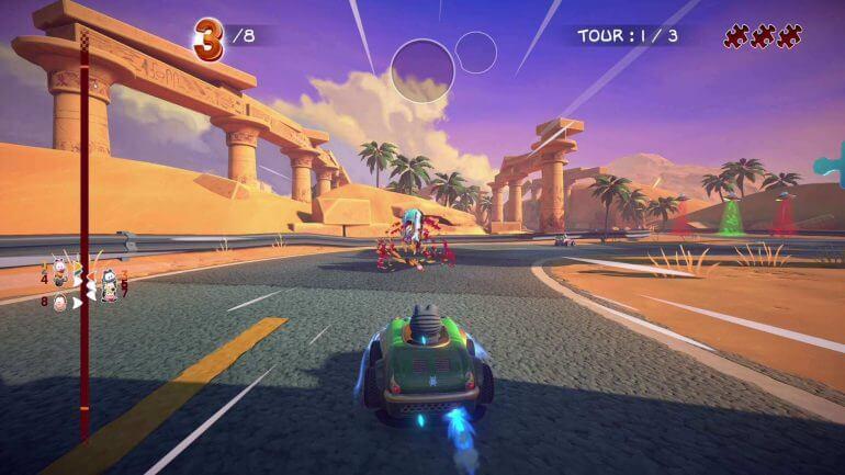 Garfield Kart: furiuos Racing gameplay