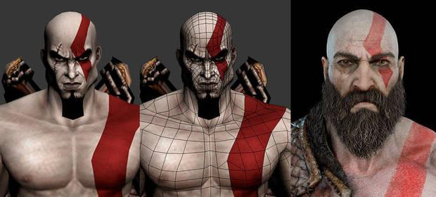 Kratos playstation poligonos