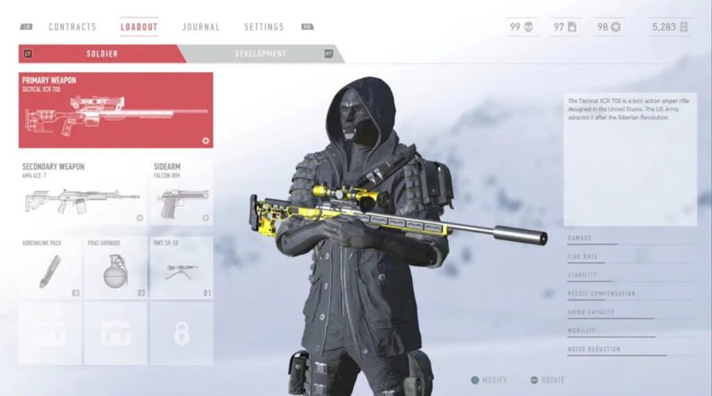 personalizacion sniper contract