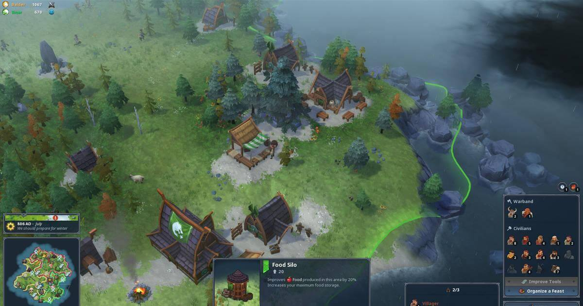 northgard jugabilidad