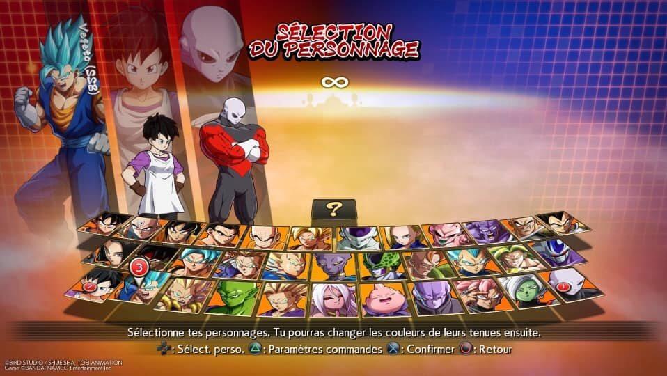 Personajes Dragon Ball FighterZ