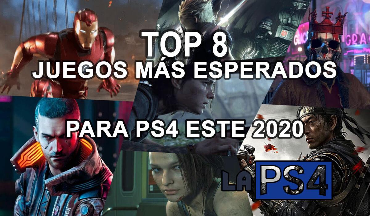Top 8 juegos mas esperados del 2020 para ps4