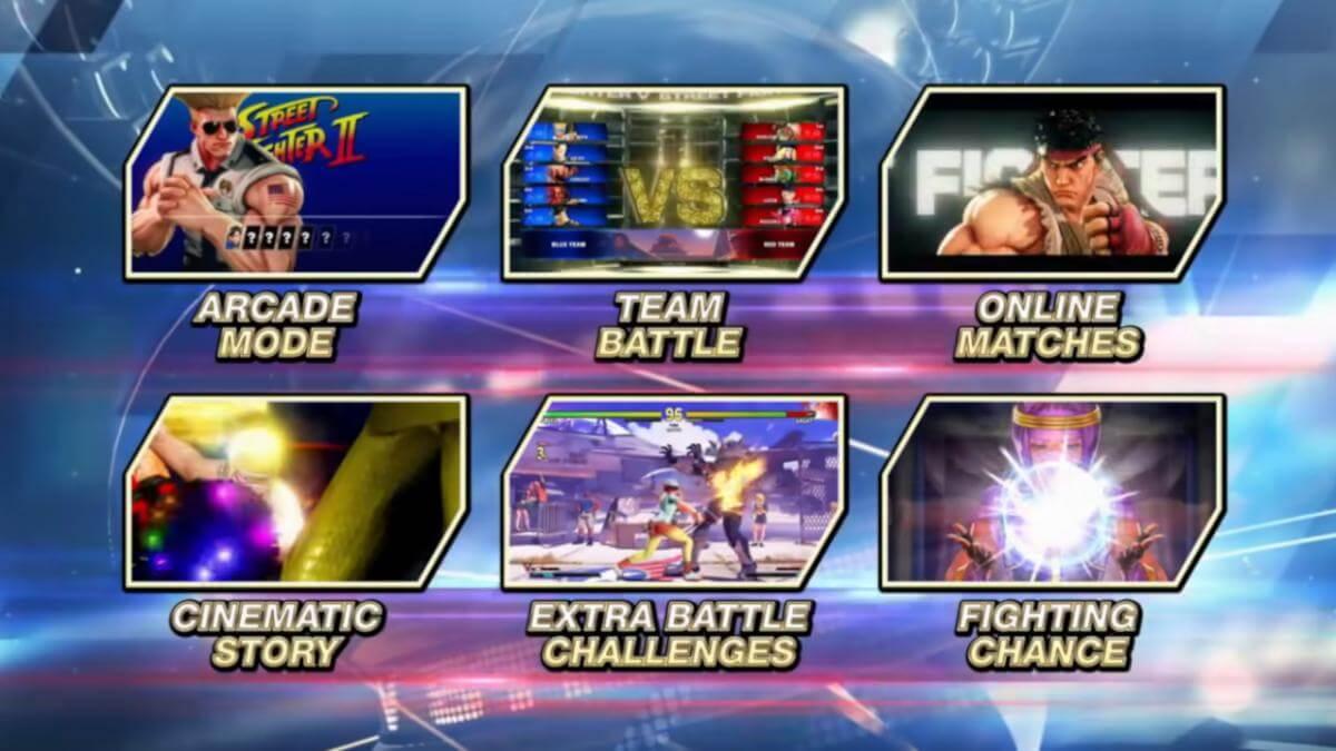 Street Fighter V: Champion Edition modos
