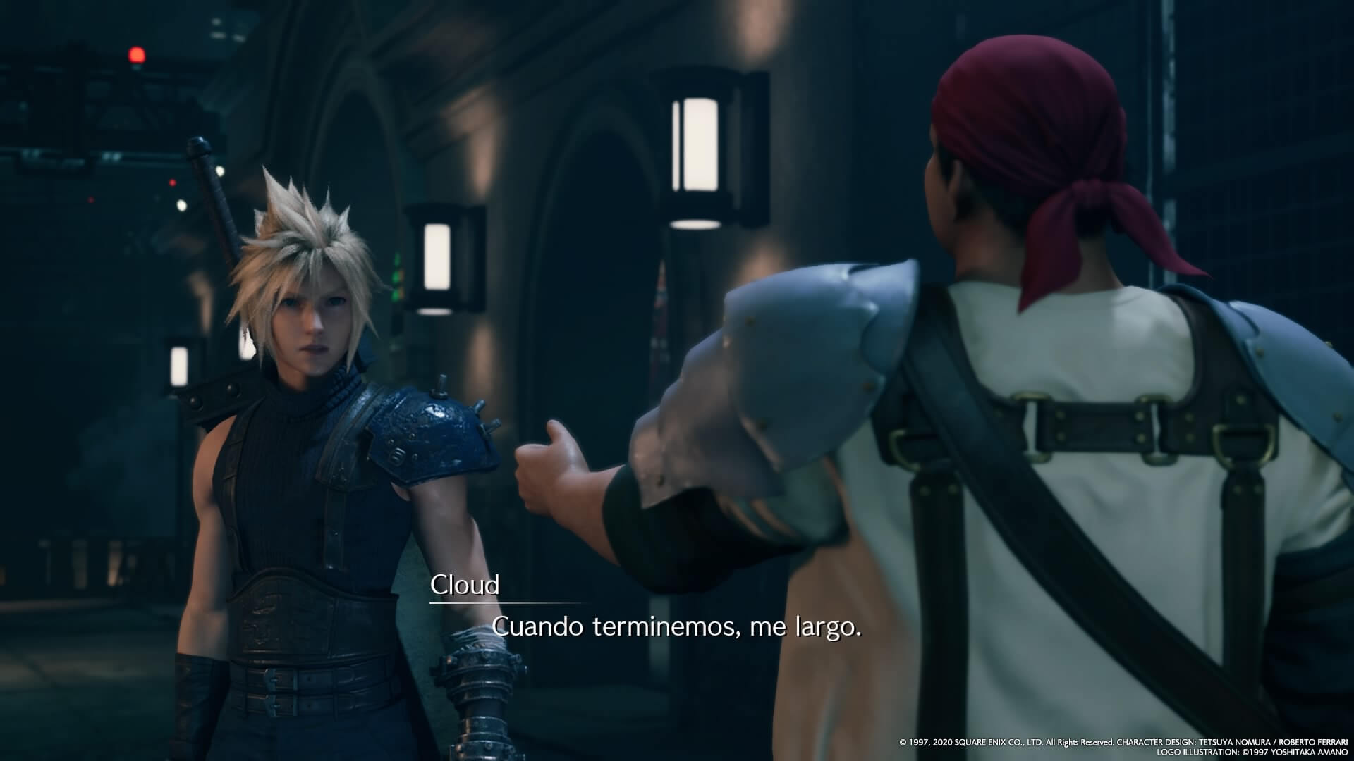 Presentación de Cloud en Final Fantasy VII Remake