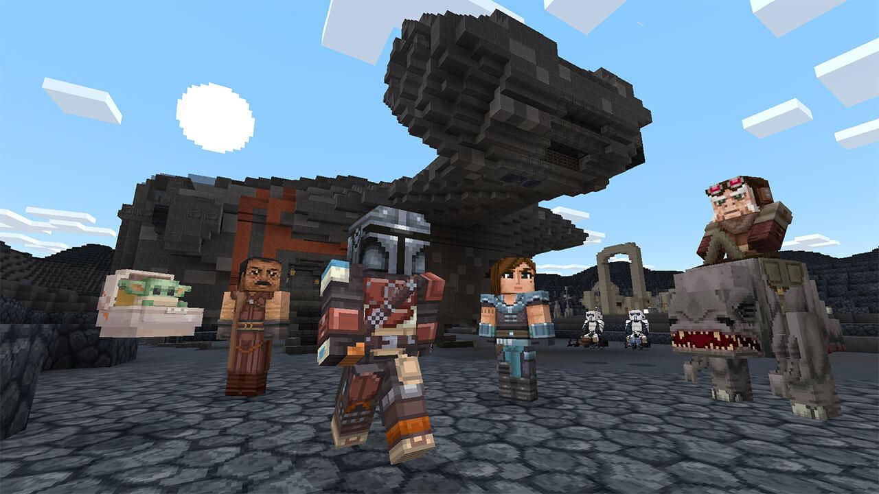 Minecraft: Nuevo DLC añade el universo de Star Wars ¡con Baby Yoda incluido!