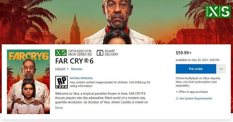Fecha de lanzamiento de Far Cry 6
