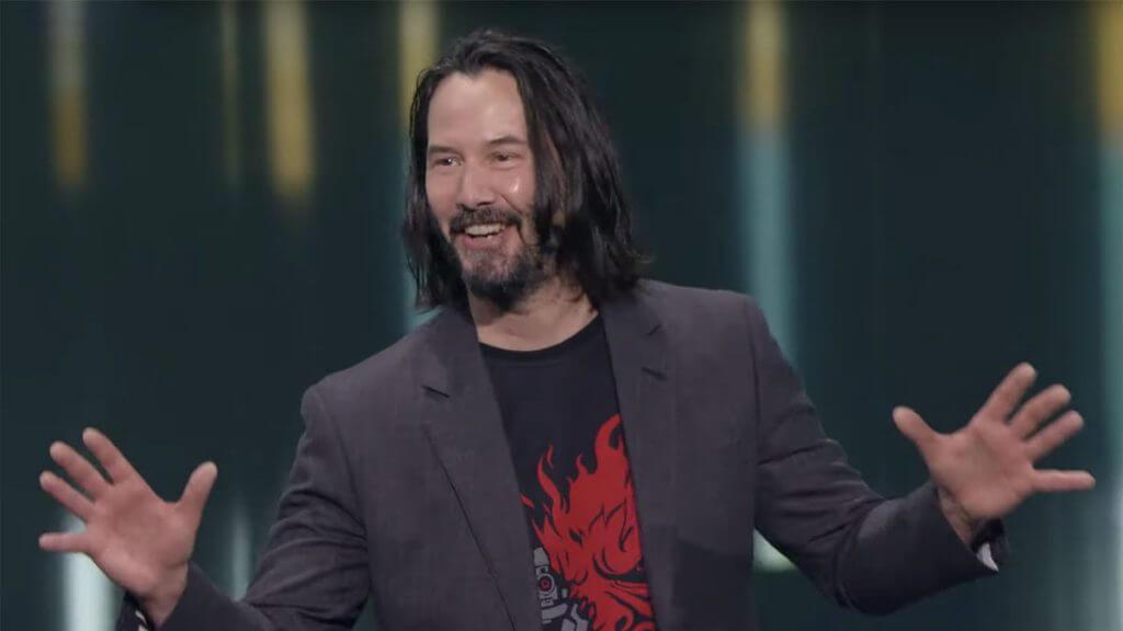 Portada de Keanu Reeves en Cyberpunk 2077