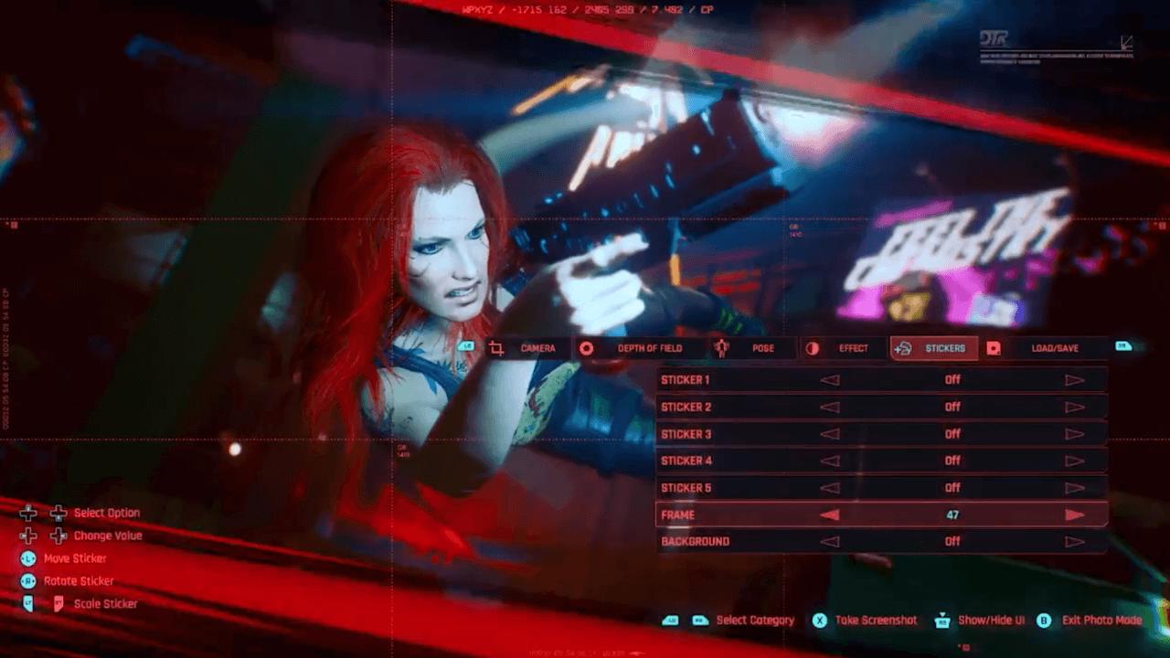 Cyberpunk 2077 detalla las opciones de su modo foto en un nuevo tráiler