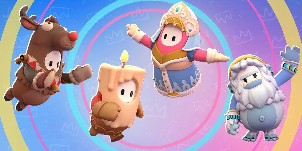 Fall Guys muestra cuatro nuevos trajes de la tercera temporada del juego