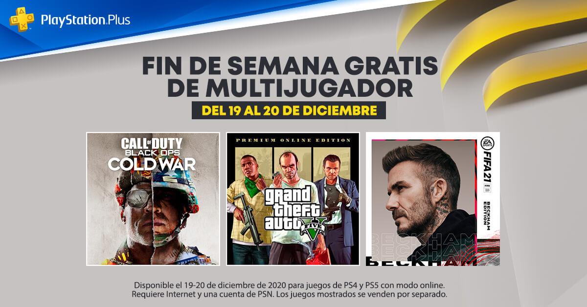 Sony anuncia fin de semana gratis de multijugador online en FIFA 21, GTA V y COD: Black Ops Cold War