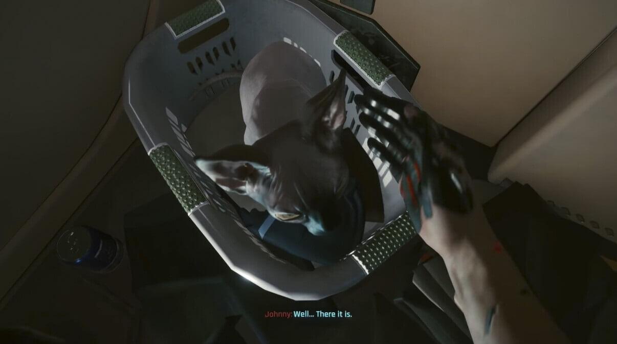 Cyberpunk 2077 también te deja tener un gato de mascota
