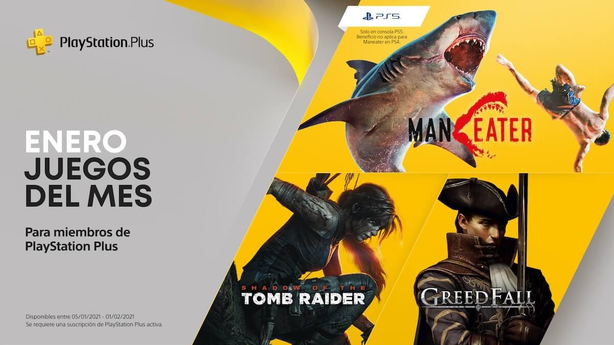 Shadow of the Tomb Raider encabeza los juegos gratis de PS Plus de Enero