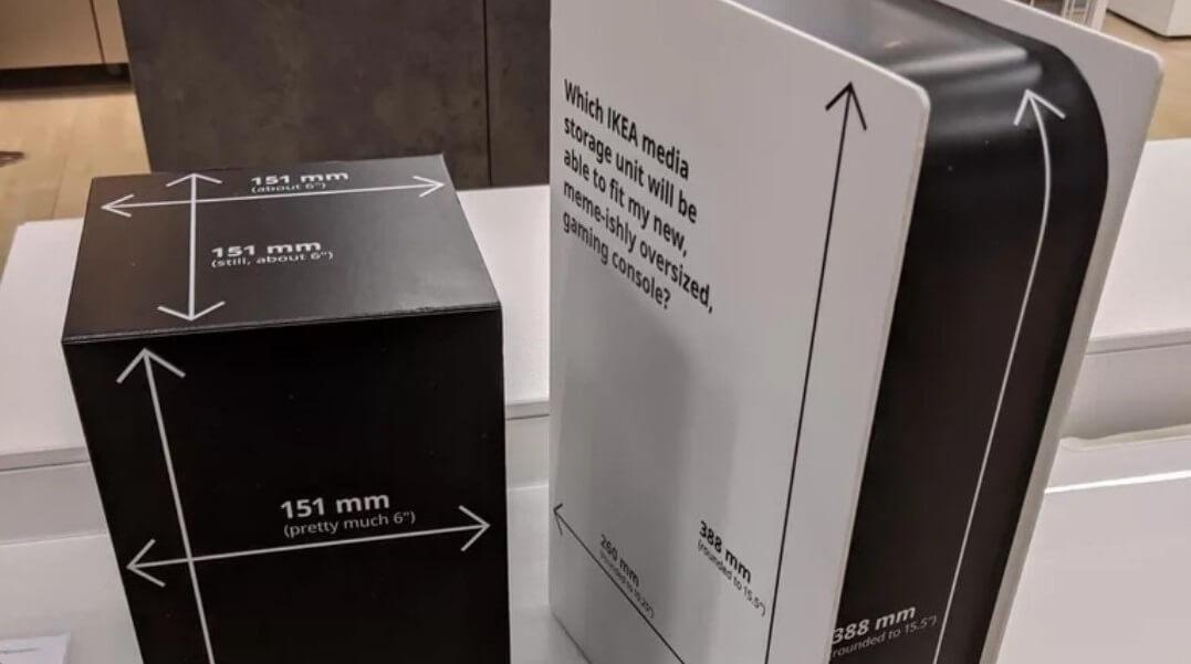 IKEA hace réplicas de cartón de PS5 y Xbox Series X para calcular su espacio