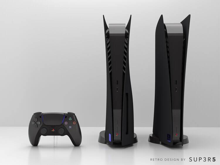 Crean una PS5 negra inspirada en PS2 que se vende por 650 dólares