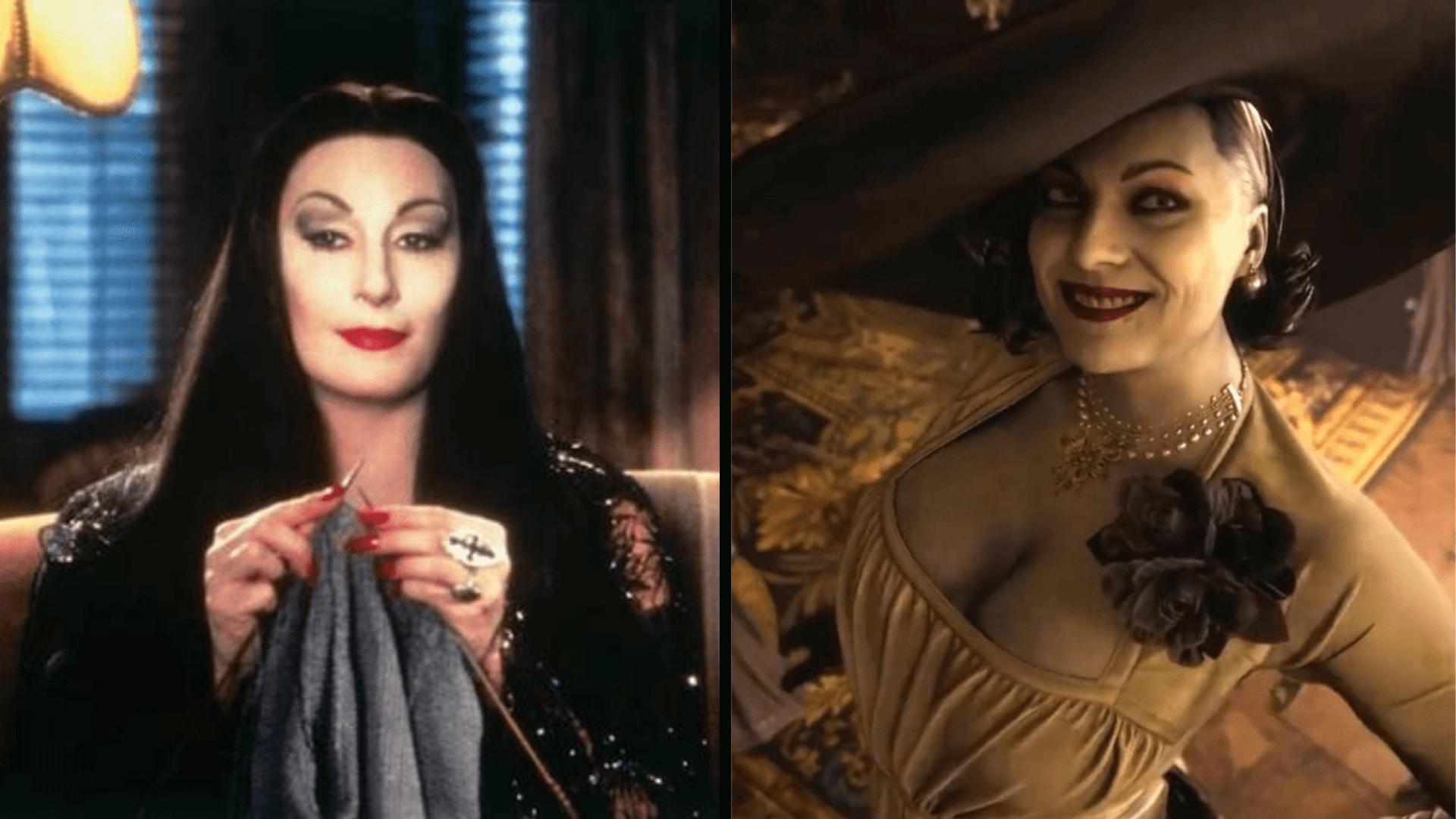 Capcom se inspiró en Morticia Addams para crear a Lady Dimitrescu
