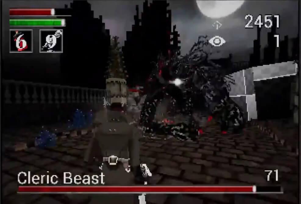 El demake Bloodborne PSX muestra el combate contra la Bestia Clérigo