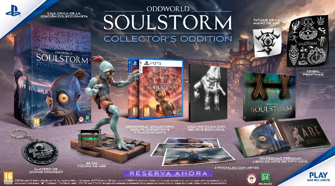 Oddworld Soulstorm ya está disponible en sus distintas ediciones físicas