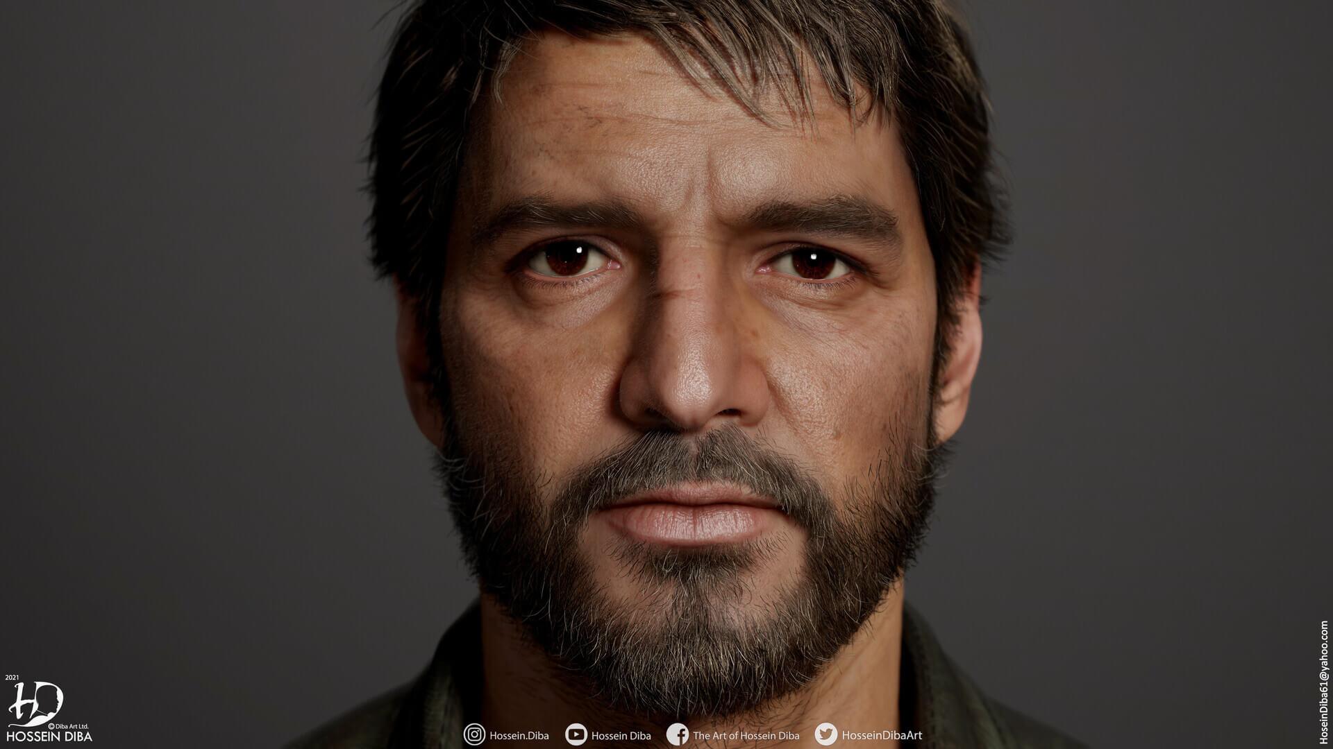 The Last of Us: Un artista convierte a Pedro Pascal en Joel con estos espectaculares modelos en 3D