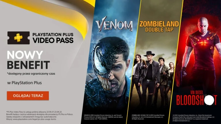 PS Plus Video Pass: Ofrece más de 20 películas y series de Sony Pictures; prueba solo disponible en Polonia