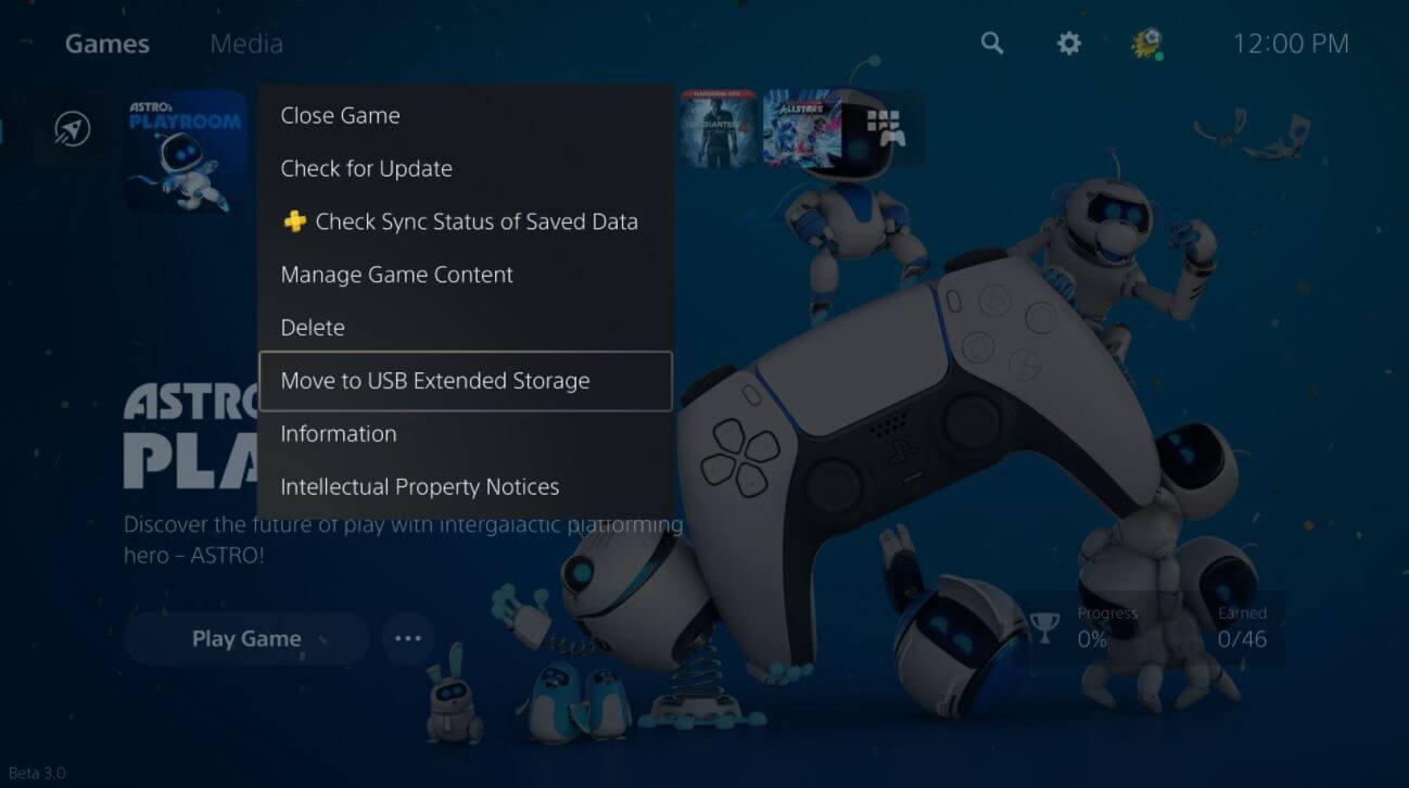 PS5 se actualizará mañana para permitir almacenar juegos en un USB externo