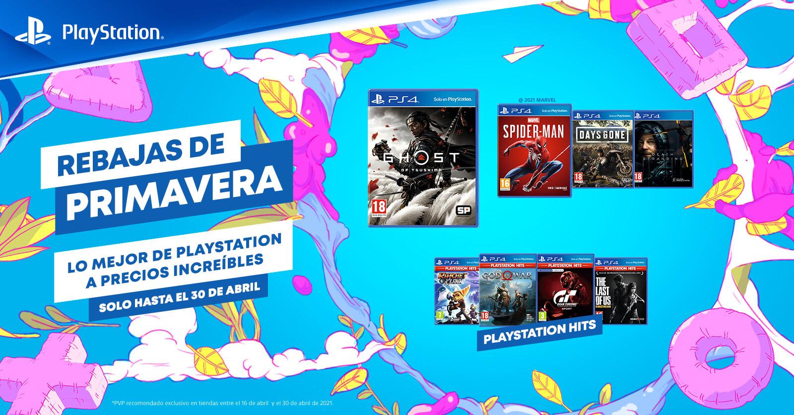 Las Rebajas de Primavera de PlayStation ya llegaron a las tiendas físicas