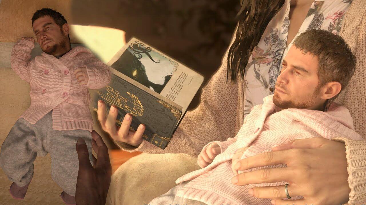Chris Redfield es transformado en bebé con este mod de RE Village que sorprende a los aficionados