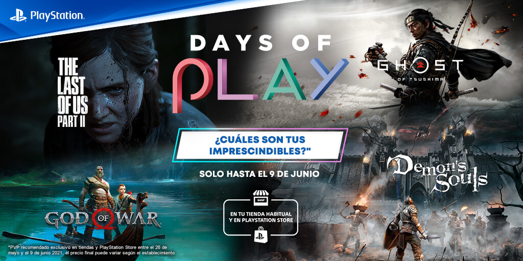 Days of Play revela sus ofertas en juegos digitales y físicos; TLOU II, God of War y más