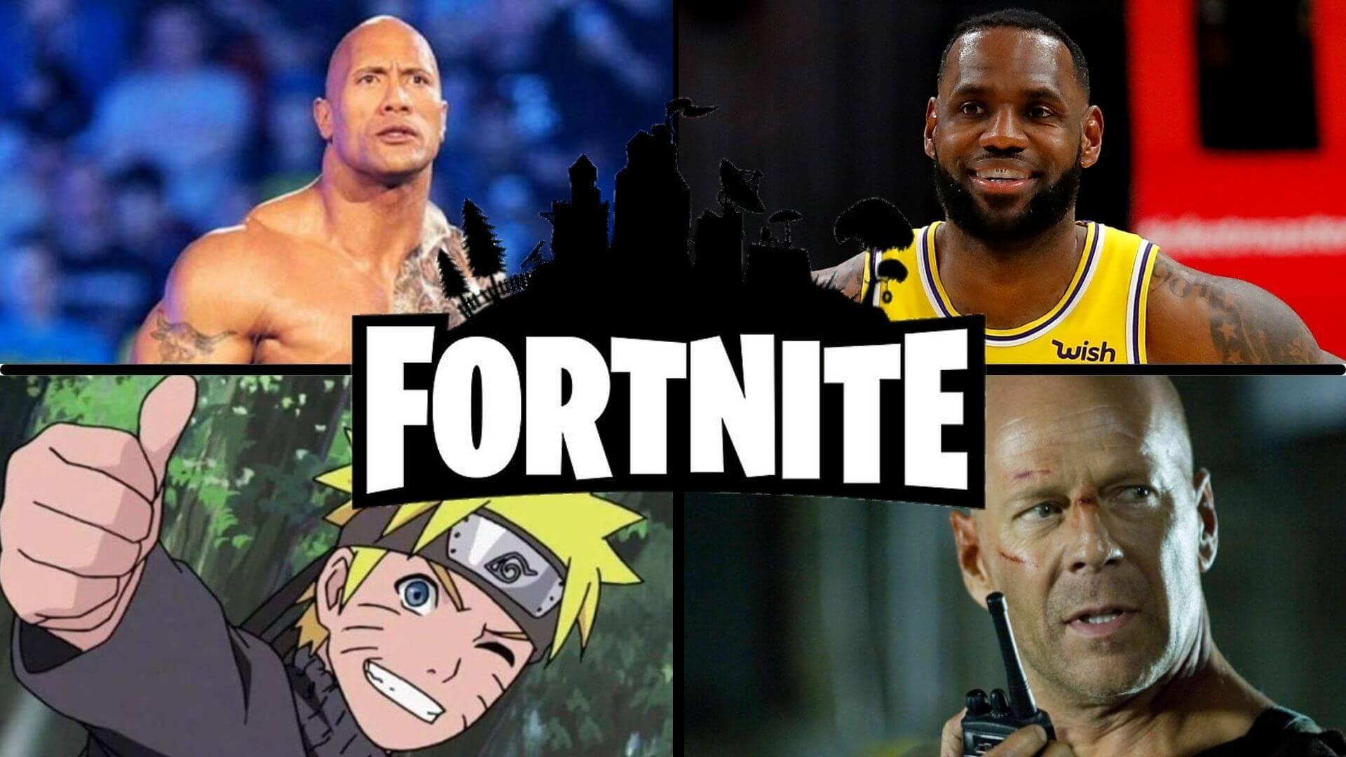 Naruto, LeBron James, The Rock… ¿John McClane? y más personajes llegarán a Fortnite según documentos legales