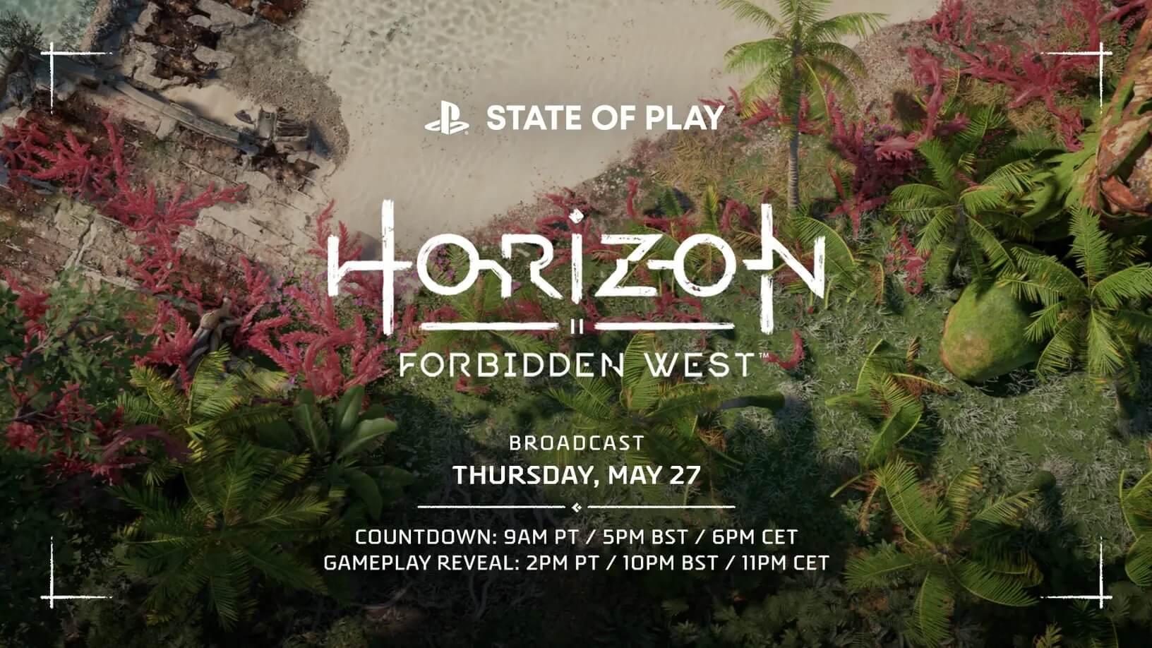 State of Play de Horizon Forbidden West; consulta horario, canales y más