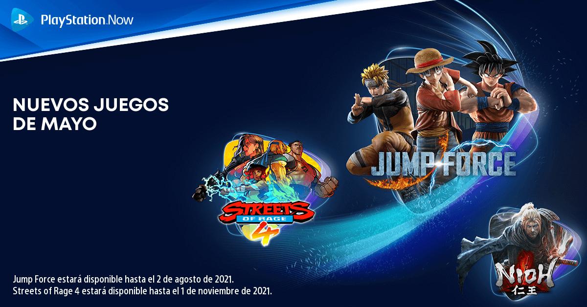 Jump Force se une al catálogo de PS Now junto a otros dos títulos en mayo