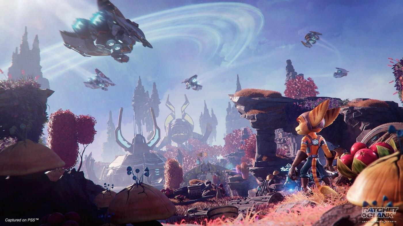 Ratchet & Clank: Rift Apart presenta sus espectaculares planetas y entornos con un tráiler
